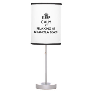 Keep calm by relaxing at Indianola Beach Texas Table Lamps