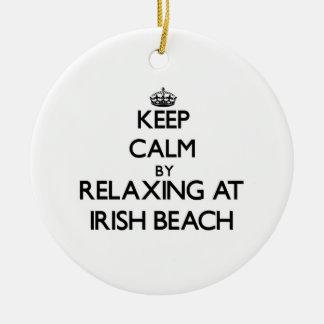 Keep calm by relaxing at Irish Beach California Christmas Ornaments