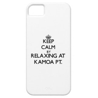 Keep calm by relaxing at Kamoa Pt. Hawaii iPhone 5 Cases