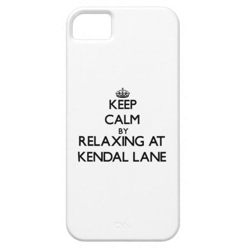 Keep calm by relaxing at Kendal Lane Massachusetts Cover For iPhone 5/5S