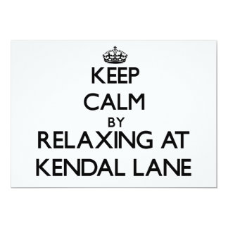 Keep calm by relaxing at Kendal Lane Massachusetts Custom Invitation