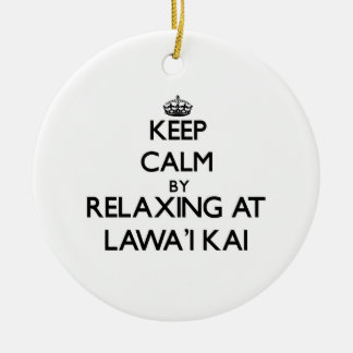 Keep calm by relaxing at Lawa'I Kai Hawaii Christmas Tree Ornament