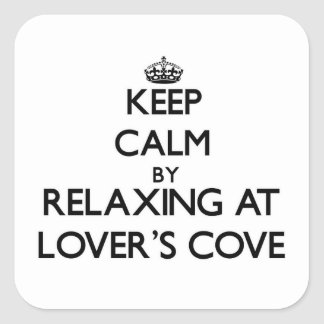 Keep calm by relaxing at Lover S Cove Washington Square Sticker