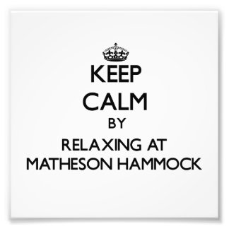 Keep calm by relaxing at Matheson Hammock Florida Photo Art