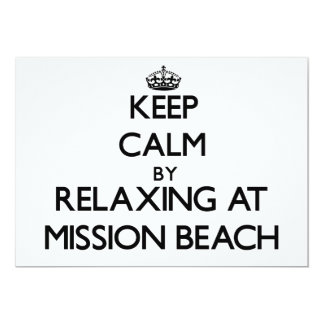 Keep calm by relaxing at Mission Beach California 5x7 Paper Invitation Card