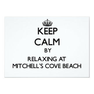 Keep calm by relaxing at Mitchell'S Cove Beach Cal Personalized Invite