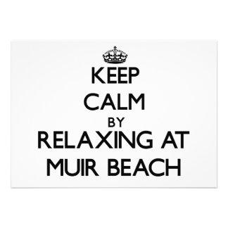 Keep calm by relaxing at Muir Beach California Invitation