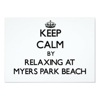 Keep calm by relaxing at Myers Park Beach Wisconsi 5x7 Paper Invitation Card