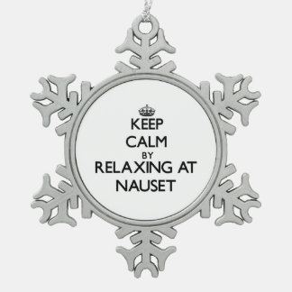 Keep calm by relaxing at Nauset Massachusetts Ornaments