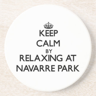 Keep calm by relaxing at Navarre Park Florida Beverage Coasters