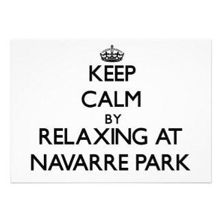 Keep calm by relaxing at Navarre Park Florida Personalized Announcements