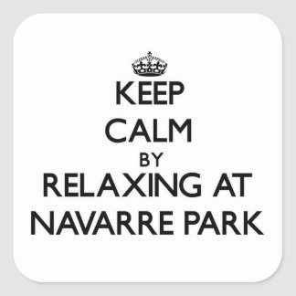 Keep calm by relaxing at Navarre Park Florida Sticker