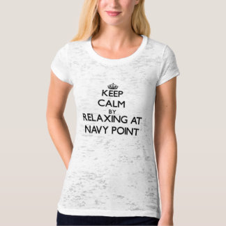 Keep calm by relaxing at Navy Point Florida T-shirt