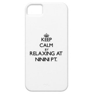 Keep calm by relaxing at Ninini Pt. Hawaii iPhone 5 Cover