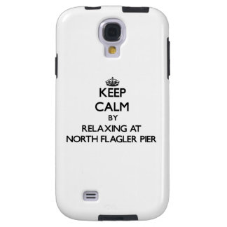 Keep calm by relaxing at North Flagler Pier Florid Galaxy S4 Case