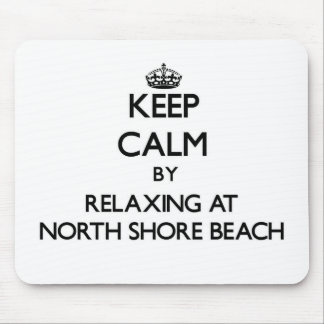 Keep calm by relaxing at North Shore Beach Florida Mousepad
