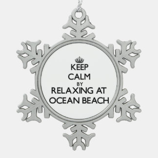 Keep calm by relaxing at Ocean Beach New York Ornaments