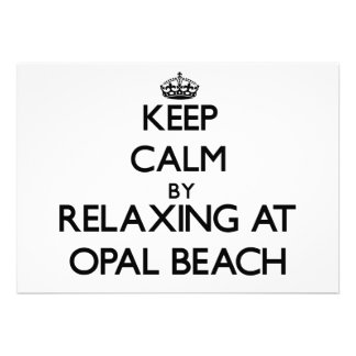 Keep calm by relaxing at Opal Beach Florida Invitations