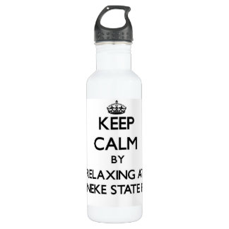 Keep calm by relaxing at Ossineke State Park Michi 24oz Water Bottle