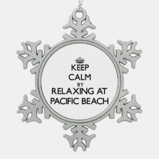 Keep calm by relaxing at Pacific Beach California Ornaments