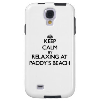 Keep calm by relaxing at Paddy S Beach Rhode Islan Galaxy S4 Case