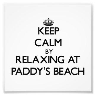 Keep calm by relaxing at Paddy'S Beach Rhode Islan Photo Art