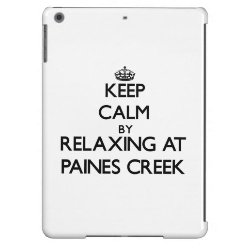 Keep calm by relaxing at Paines Creek Massachusett Cover For iPad Air