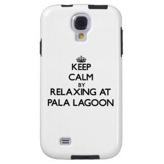 Keep calm by relaxing at Pala Lagoon Samoa Galaxy S4 Case