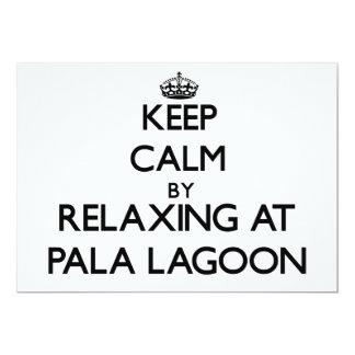 "Keep calm by relaxing at Pala Lagoon Samoa 5"" X 7"" Invitation Card"