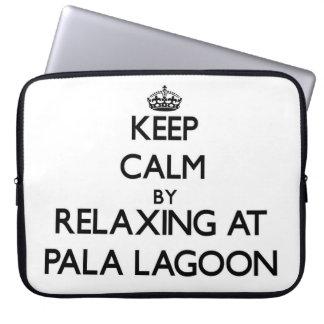 Keep calm by relaxing at Pala Lagoon Samoa Laptop Sleeves