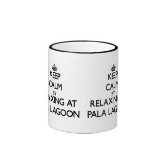Keep calm by relaxing at Pala Lagoon Samoa Ringer Coffee Mug