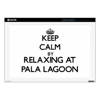 Keep calm by relaxing at Pala Lagoon Samoa Skin For Laptop