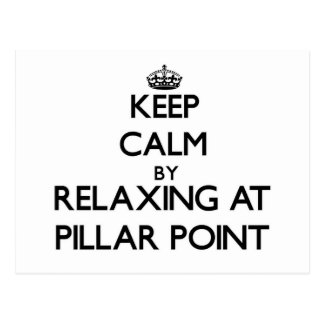 Keep calm by relaxing at Pillar Point California Postcard