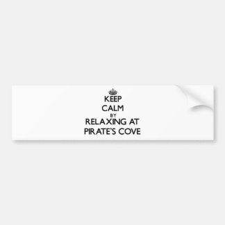 Keep calm by relaxing at Pirate'S Cove Alabama Car Bumper Sticker