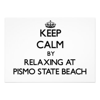 Keep calm by relaxing at Pismo State Beach Califor Personalized Announcement