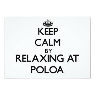 "Keep calm by relaxing at Poloa Samoa 5"" X 7"" Invitation Card"