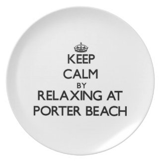 Keep calm by relaxing at Porter Beach Indiana Plate