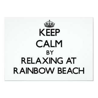 Keep calm by relaxing at Rainbow Beach Illinois 5x7 Paper Invitation Card