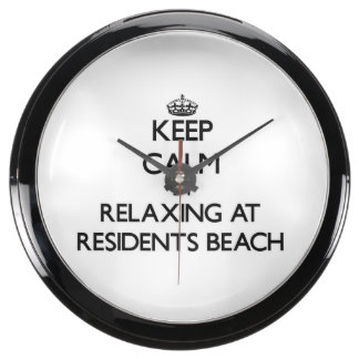 Keep calm by relaxing at Residents Beach Massachus Aquarium Clocks