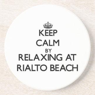 Keep calm by relaxing at Rialto Beach Washington Drink Coaster