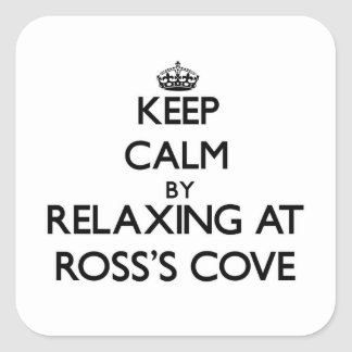 Keep calm by relaxing at Ross S Cove California Square Sticker