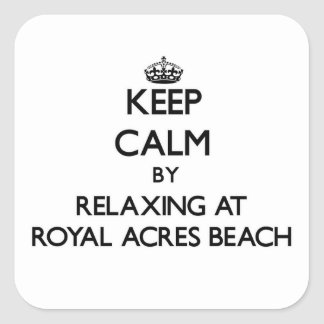 Keep calm by relaxing at Royal Acres Beach Ohio Square Sticker