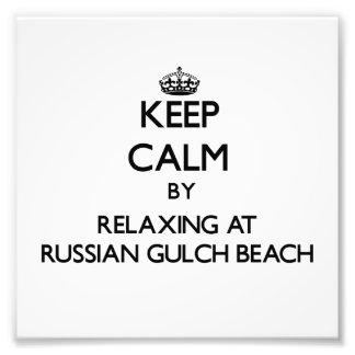 Keep calm by relaxing at Russian Gulch Beach Calif Art Photo