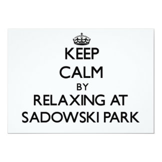 Keep calm by relaxing at Sadowski Park New Jersey 5x7 Paper Invitation Card