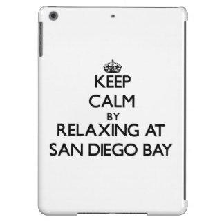 Keep calm by relaxing at San Diego Bay California iPad Air Cover