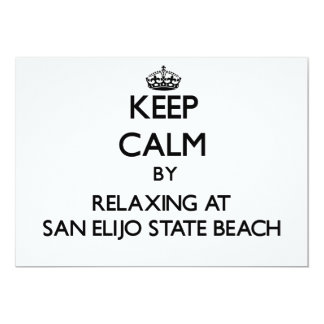 Keep calm by relaxing at San Elijo State Beach Cal Personalized Invites