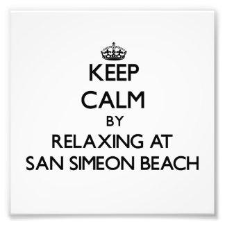 Keep calm by relaxing at San Simeon Beach Californ Photo Print