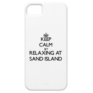 Keep calm by relaxing at Sand Island Hawaii iPhone 5 Cover