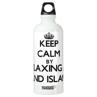 Keep calm by relaxing at Sand Island Hawaii SIGG Traveler 0.6L Water Bottle
