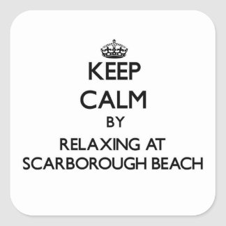 Keep calm by relaxing at Scarborough Beach Maine Stickers